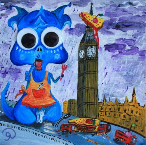 Dragons of London by Olya - Use the 'Create Similar' button to commission an artist to create your own artwork.