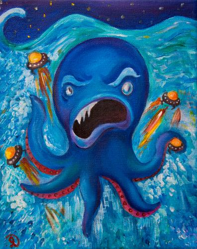 Octopus by Olya - Use the 'Create Similar' button to commission an artist to create your own artwork.