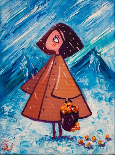 Snow maiden by Olya - Use the 'Create Similar' button to commission an artist to create your own artwork.