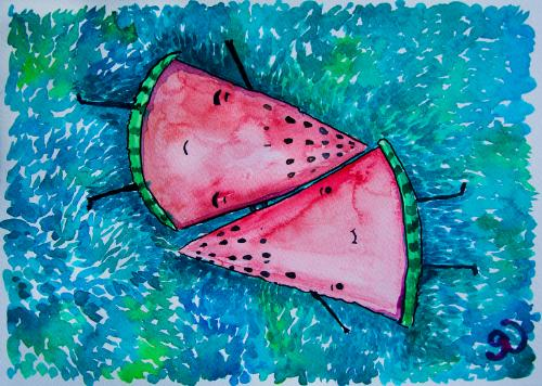 Watermelons by Olya - Use the 'Create Similar' button to commission an artist to create your own artwork.