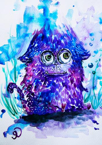 Monster by Olya - Use the 'Create Similar' button to commission an artist to create your own artwork.