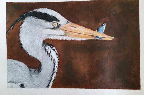 Artwork Grey Heron