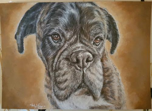 Artwork Boxer Dog