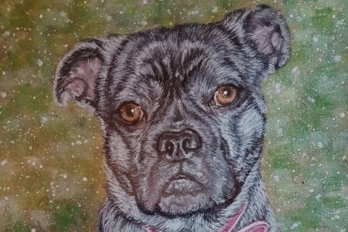 Artwork Dog Painting