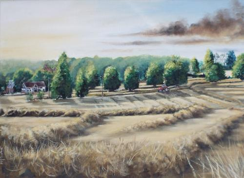 """Artwork Raking the Hay """"Norgrove Court"""""""