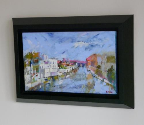 The guildhall and river Ouse York by paintingyorkshire - Use the 'Create Similar' button to commission an artist to create your own artwork.