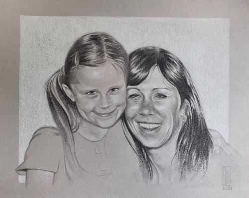 Artwork Family Portrait Commission