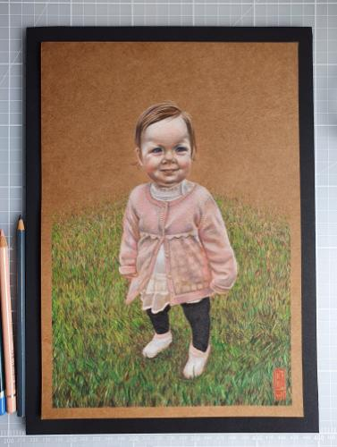 Artwork Baby daughter commission
