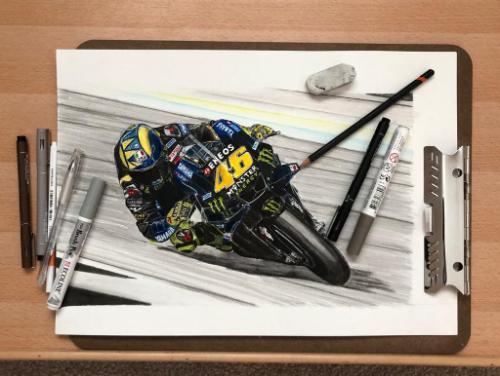 Artwork Valentino Rossi - Silverstone 2019