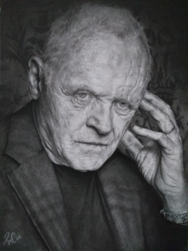 Artwork A3 Drawing of Sir Anthony Hopkins
