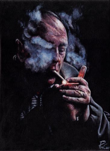 Tony Smoking by PaulC - Use the 'Create Similar' button to commission an artist to create your own artwork.