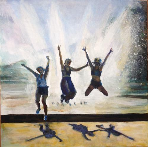 Jump for Joy by Sandra - Use the 'Create Similar' button to commission an artist to create your own artwork.