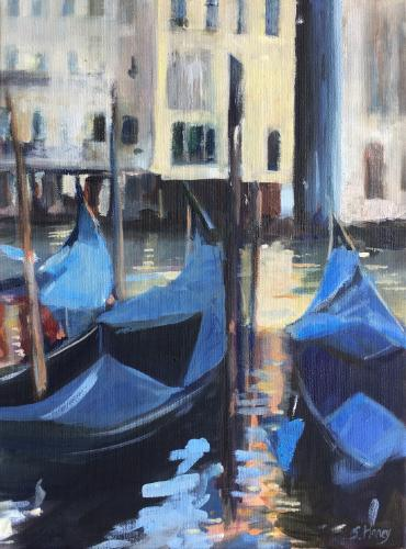 Artwork Gondolas on the Grand Canal
