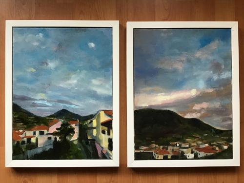 Artwork Pair of framed paintings, Madeira