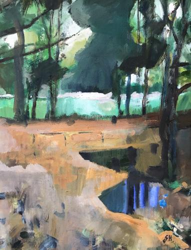 Trees at Aykley Heads by Sandra - Use the 'Create Similar' button to commission an artist to create your own artwork.