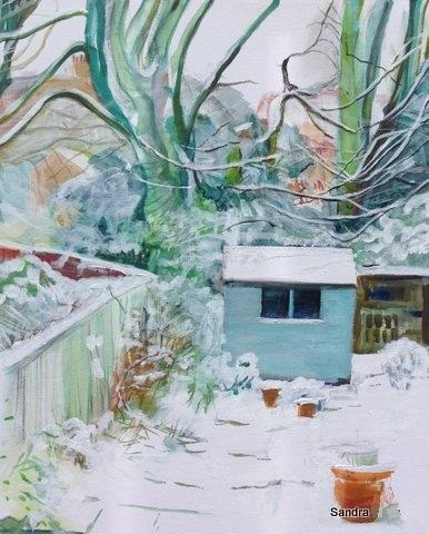 Winter Garden by Sandra - Use the 'Create Similar' button to commission an artist to create your own artwork.