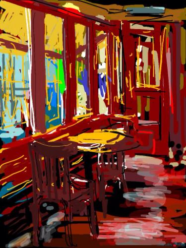 Artwork Cafe Rouge