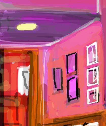 Jumping Bean Cafe by Sandra - Use the 'Create Similar' button to commission an artist to create your own artwork.