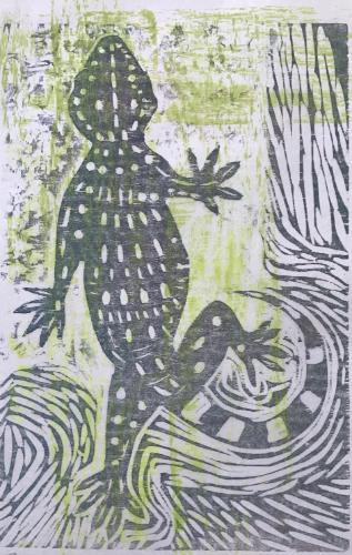 Artwork Grey Gecko