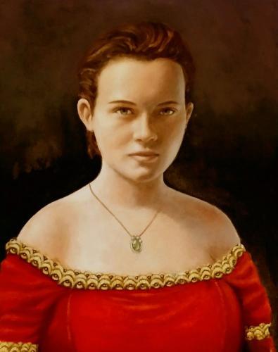 Artwork Girl in Red Velvet