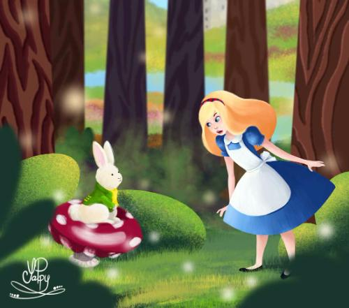 Artwork Alice In Wonderland
