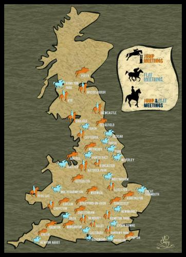 Artwork Horse race map of the United Kingdom
