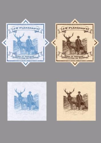 Artwork J.T Flanagan's label design