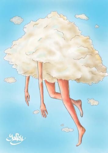Artwork Head In Clouds