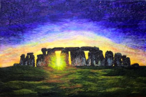 Artwork Stonehenge Winter Solstice