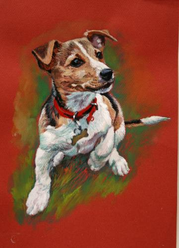 Artwork Jack Russell Pup