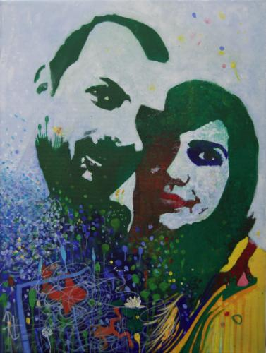 Artwork Portrait of Ed & Maya George