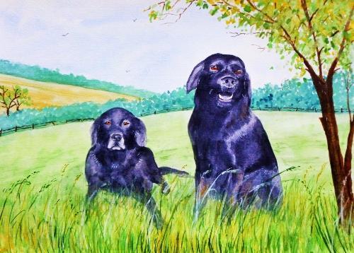 Artwork BLACK LABRADORS