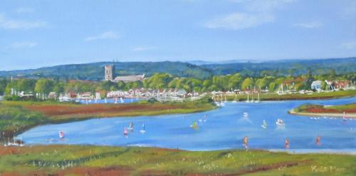Artwork Christchurch Harbour view from Hengistbury Head