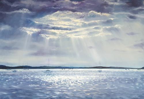 Artwork Sunbeams Over Poole