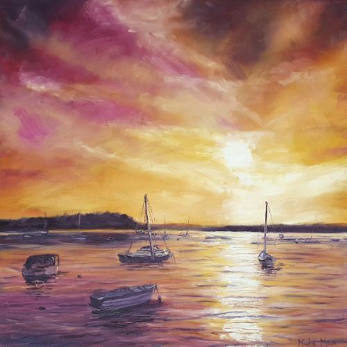 Artwork Dramatic sunset at Poole