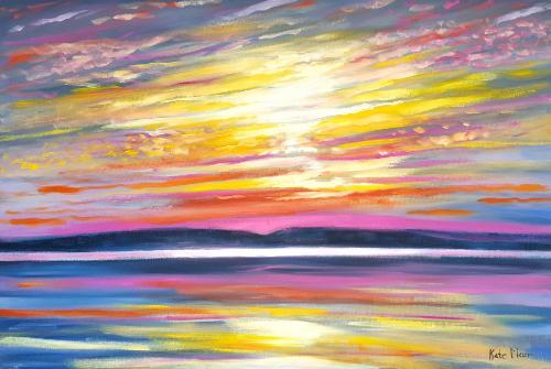Artwork Vibrant Sunset
