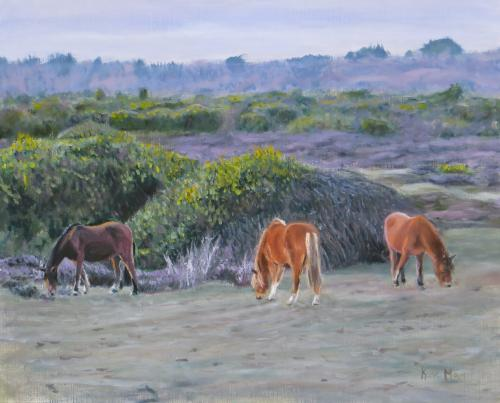Artwork New forest ponies
