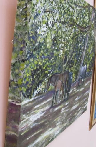 Ponies in the dappled light by KateM - Use the 'Create Similar' button to commission an artist to create your own artwork.