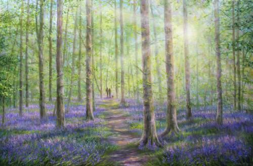 Artwork Sunlight & Shadows In Bluebell Forest