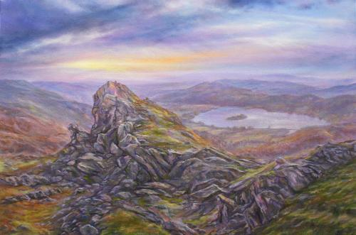 Artwork Stormy Skies, Helms Crag