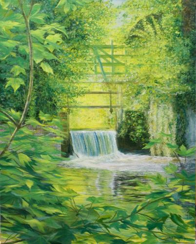 Artwork The Weir on the Mill Pond
