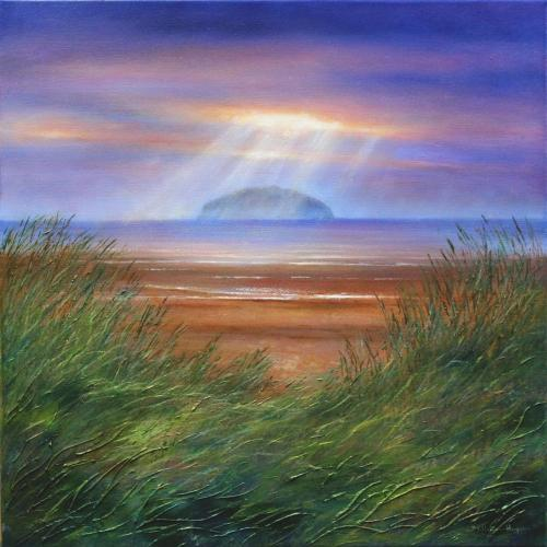 Ailsa Craig Evening Splendour by Stella - Use the 'Create Similar' button to commission an artist to create your own artwork.