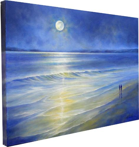 Beautiful Moonlight by Stella - Use the 'Create Similar' button to commission an artist to create your own artwork.