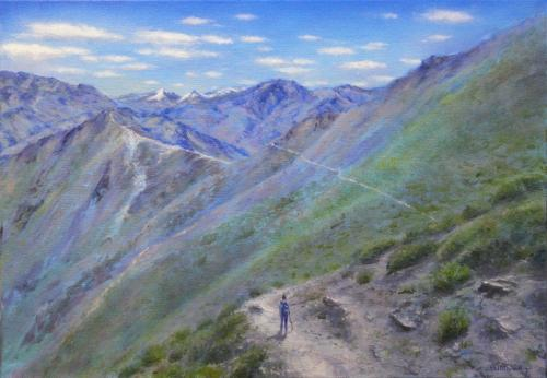 Himalaya path, Commissioned Painting by Stella - Use the 'Create Similar' button to commission an artist to create your own artwork.