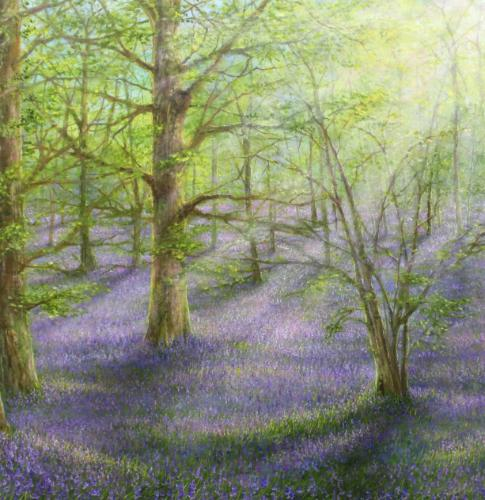 Bluebells by Stella - Use the 'Create Similar' button to commission an artist to create your own artwork.