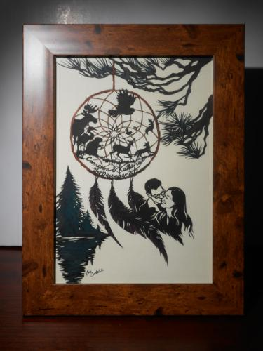 Artwork DreamCatcher (Personalised Wedding Gift)