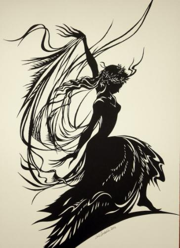 Artwork Flamenco Dancer (Paper-Cut)