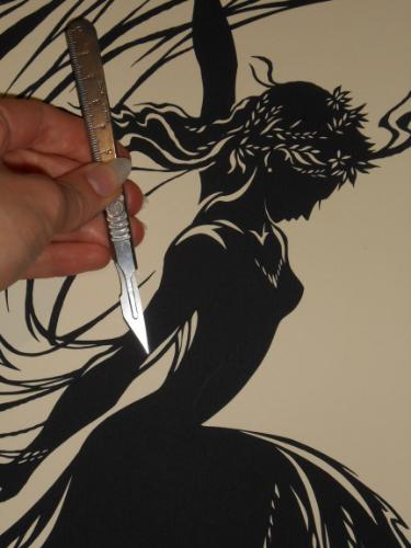 Flamenco Dancer (Paper-Cut) by Lois - Use the 'Create Similar' button to commission an artist to create your own artwork.
