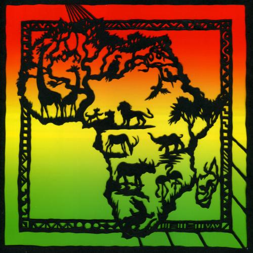 Artwork Africa (scalpel papercut)