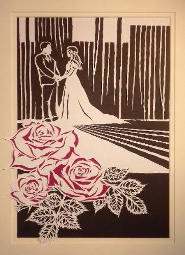 Artwork Paper (First) Wedding Anniversary (Papercut)